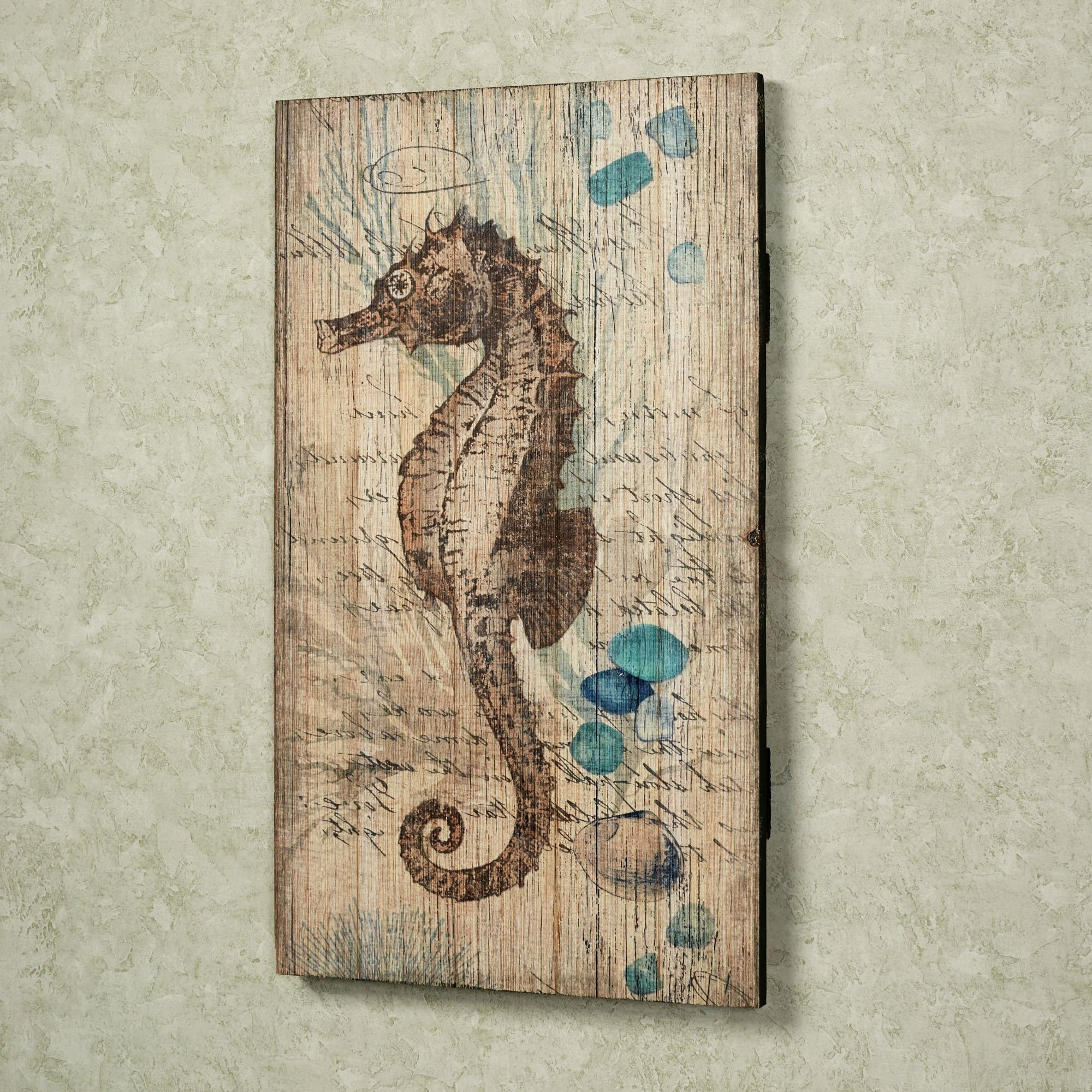 Sea Horse Wall Art With Latest Seahorse Vintage Sign Wall Art (View 10 of 15)