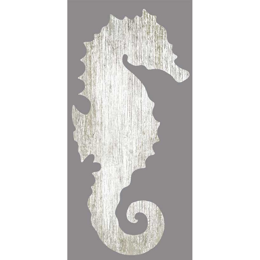 Sea Horse Wall Art With Most Recent Seahorse Silhouette Facing Left Wall Art – White – Beach Décor Shop (View 11 of 15)