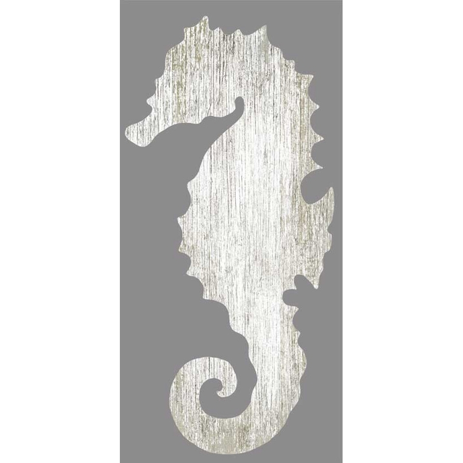 Sea Horse Wall Art With Regard To Trendy Seahorse Silhouette Facing Right Wall Art – White – Beach Décor Shop (Gallery 1 of 15)