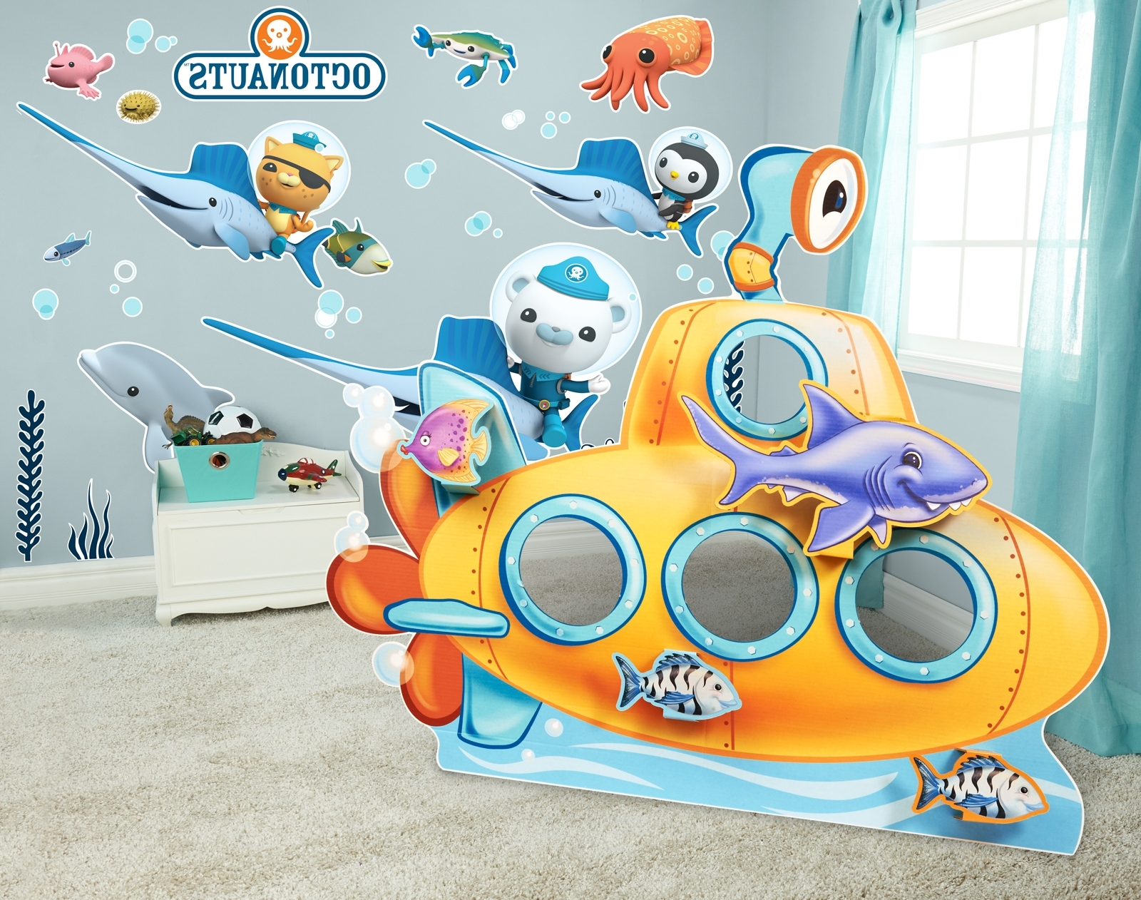 Sea Life Giant Wall Decals And Stand In Kit (View 12 of 15)