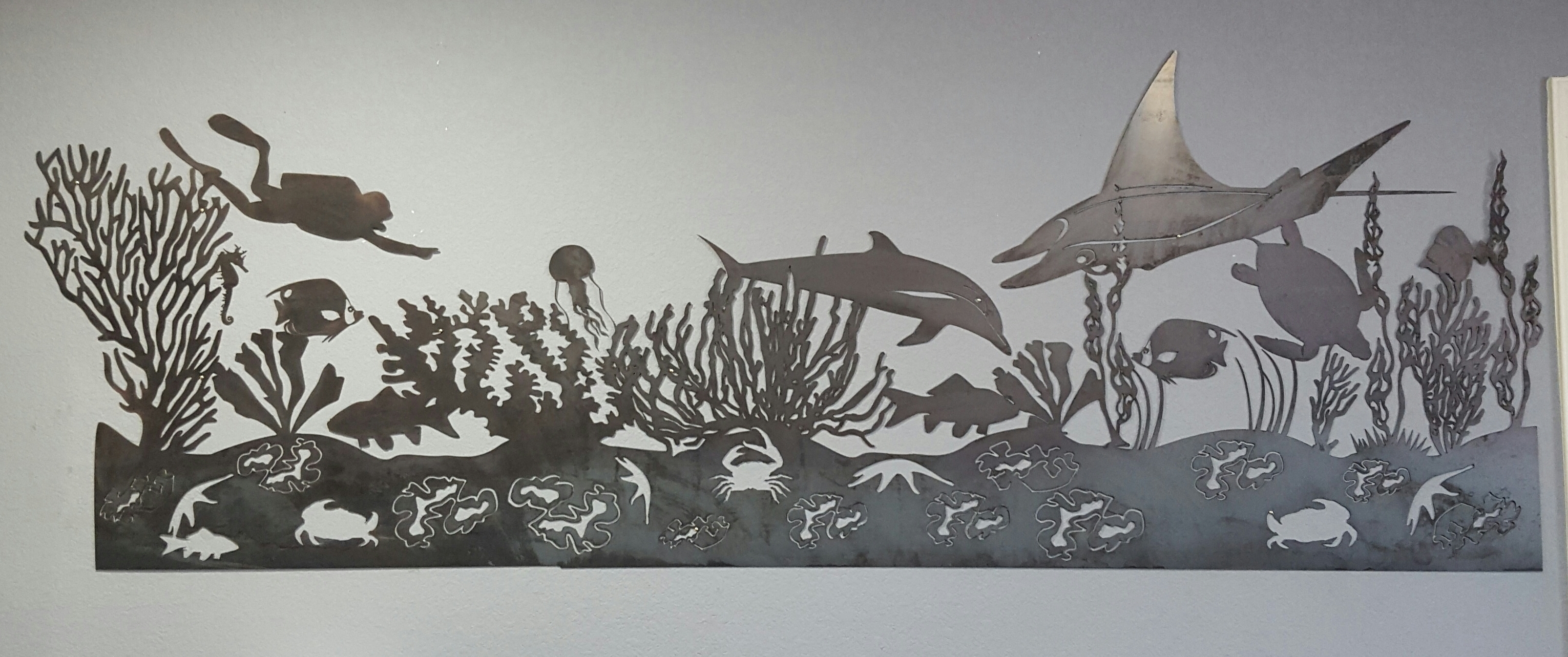 Sea Life Mural Metal Wall Art (View 9 of 15)