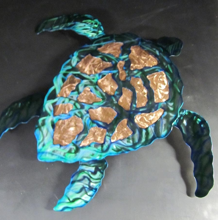 Sea Turtle Metal Wall Art Throughout Trendy Sea Turtle Abstract Wall Sculpture Sculpturerobert Blackwell (View 11 of 15)