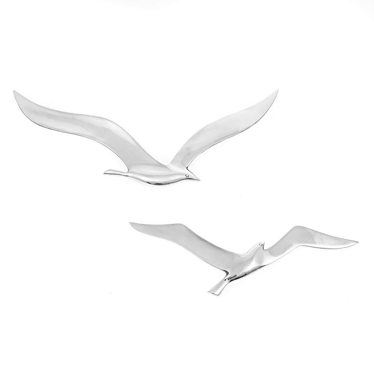 Seagull Metal Wall Art For Current Seagull Bird – Handmade Metal Wall Art Decor – Silver, Large 37Cm (View 8 of 15)