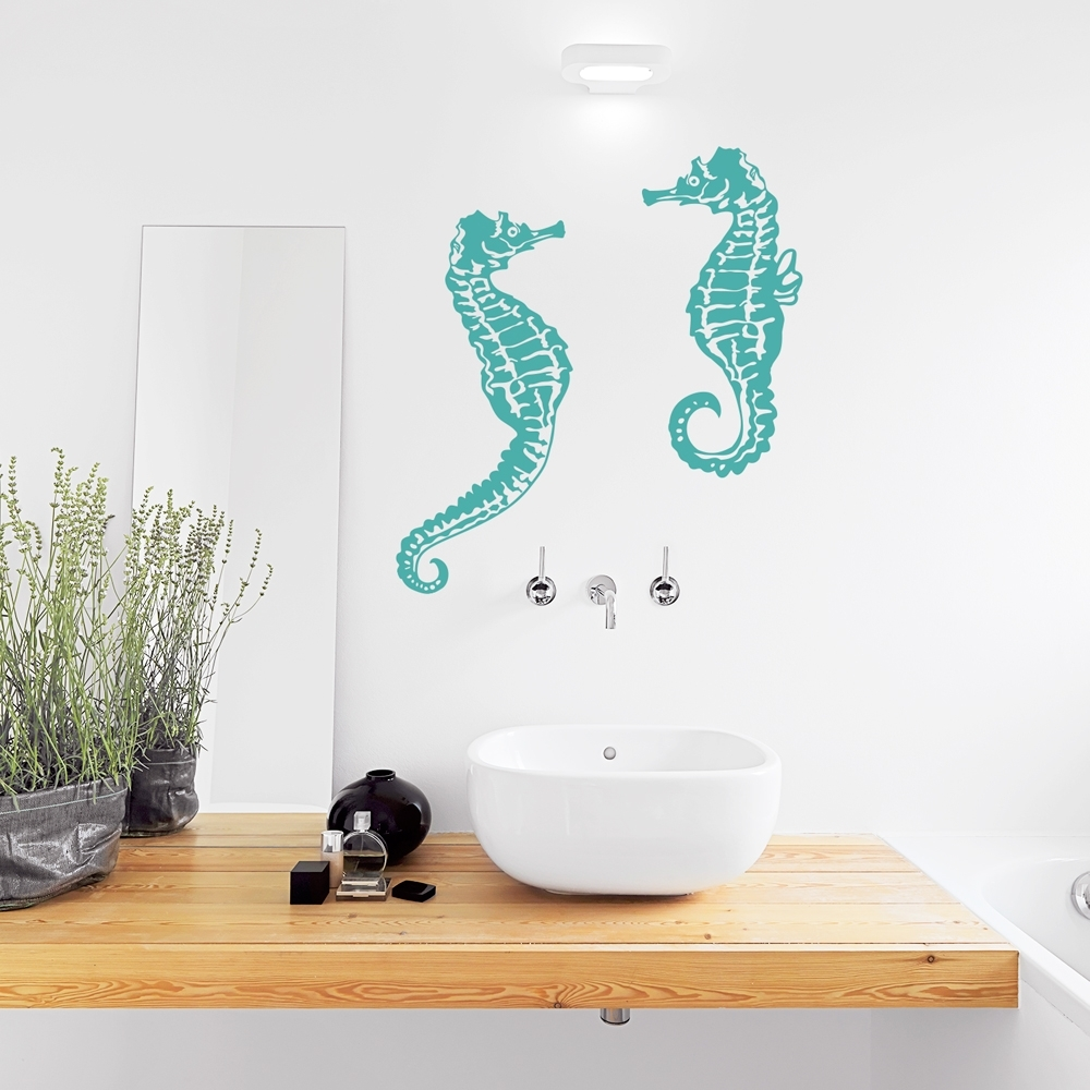 Seahorse Wall Decal Within Most Recently Released Sea Horse Wall Art (View 14 of 15)