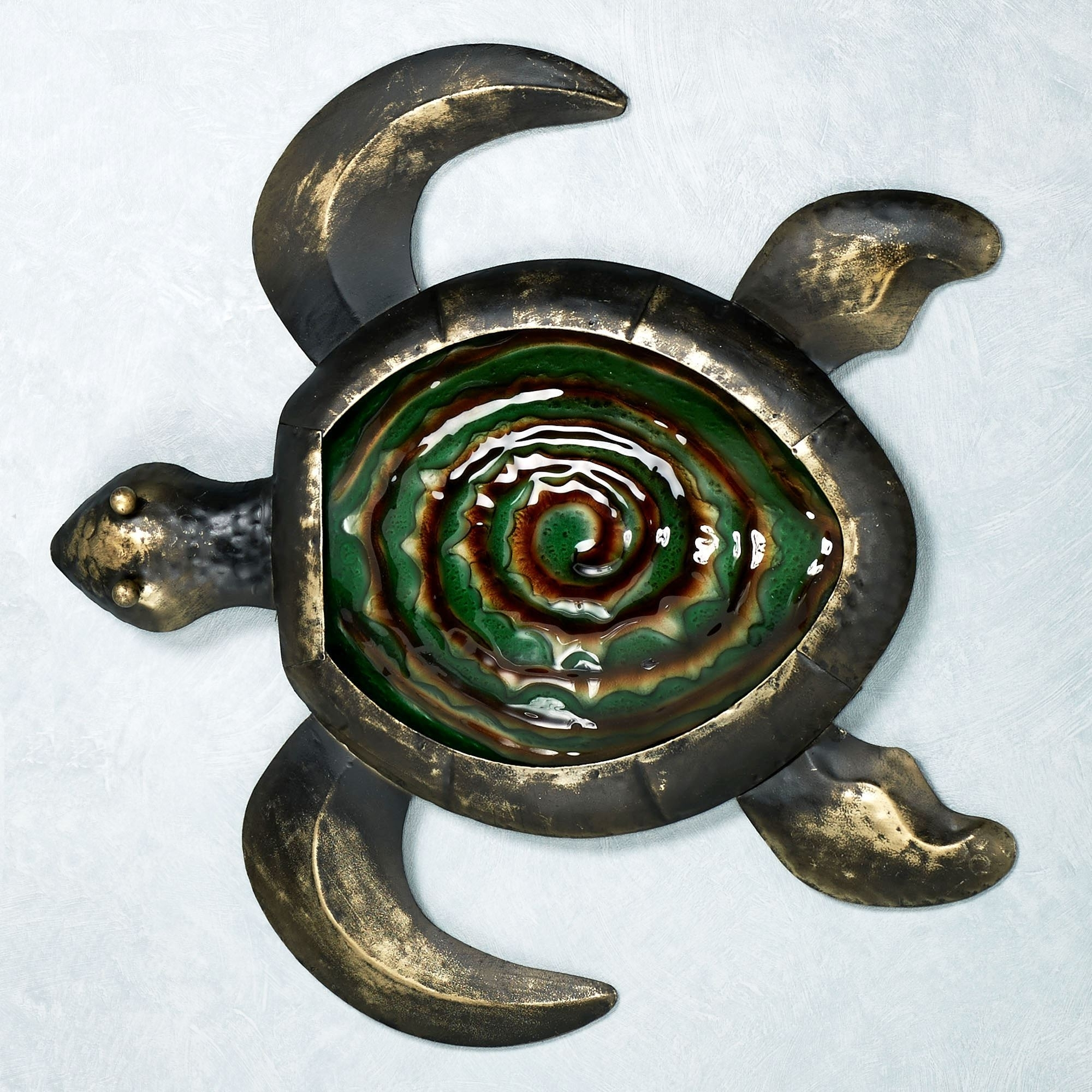 Sealife Indoor Outdoor Glass Metal Wall Art Inside Most Recent Sea Turtle Metal Wall Art (View 12 of 15)