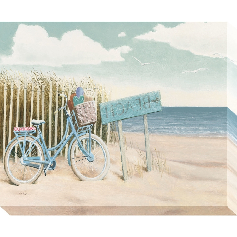 Shop 37 In W X 30 In H Frameless Coastal Canvas Print At Lowes Within Fashionable Coastal Wall Art (View 14 of 15)