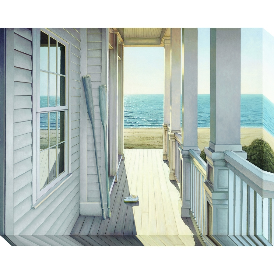 Shop 38 In W X 30 In H Frameless Coastal Canvas Print At Lowes Inside Well Liked Coastal Wall Art Canvas (View 11 of 15)