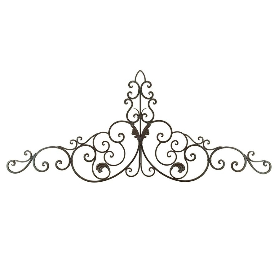 Shop Woodland Imports 59 In W X 24 In H Frameless Metal Scroll Within Widely Used Iron Scroll Wall Art (Gallery 4 of 15)