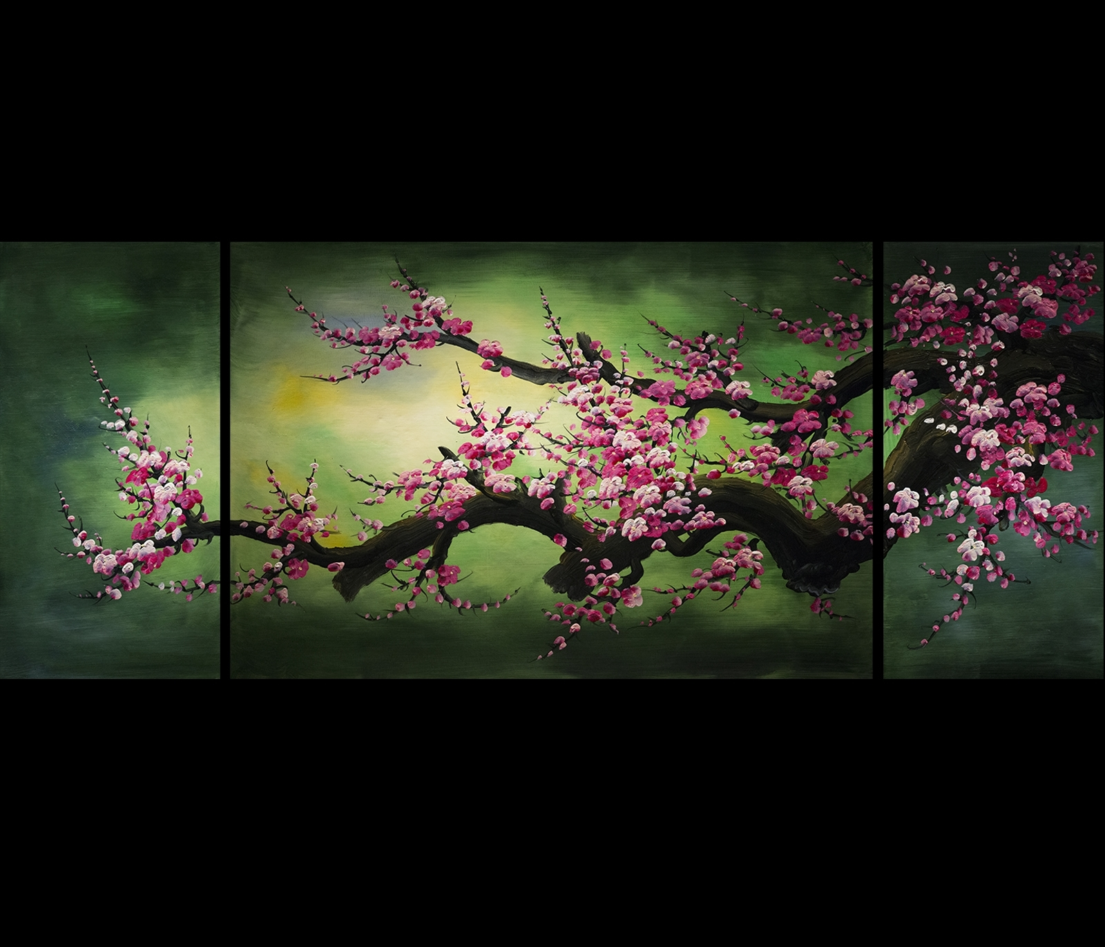 Shui Painting Wall Art Decor Chinese Cherry Blossom Painting With Regard To Recent Abstract Cherry Blossom Wall Art (View 13 of 15)