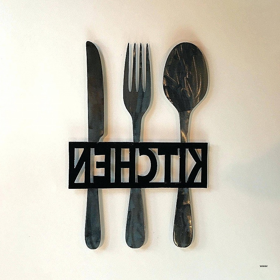 Silverware Wall Art For Newest Large Spoon And Fork Wall Art Beautiful 30 Ideas Of Big Spoon And (View 11 of 15)