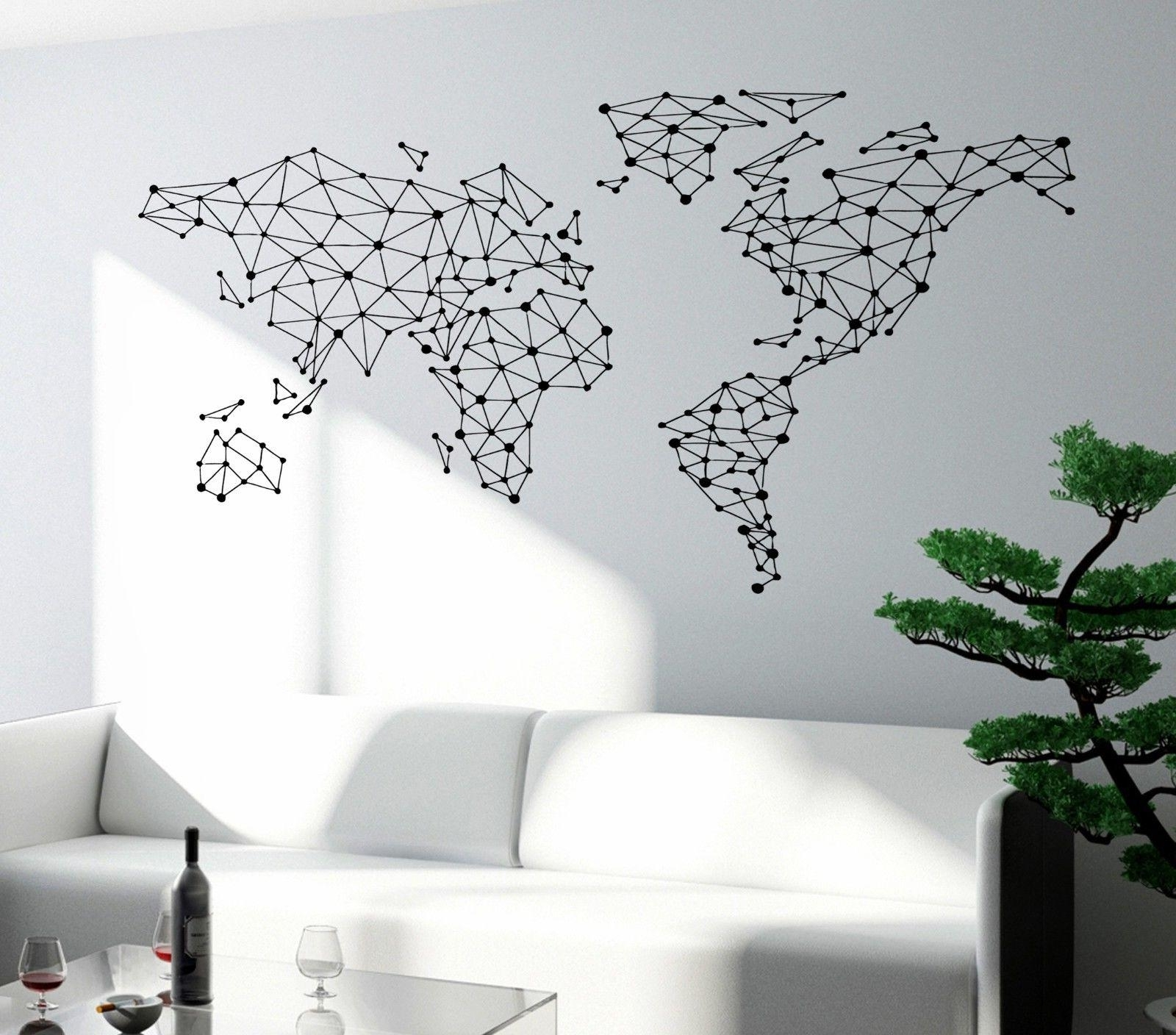 Simple Way To Diy Mural World Map Wall Art – Masata Design Inside Fashionable Maps For Wall Art (View 12 of 15)