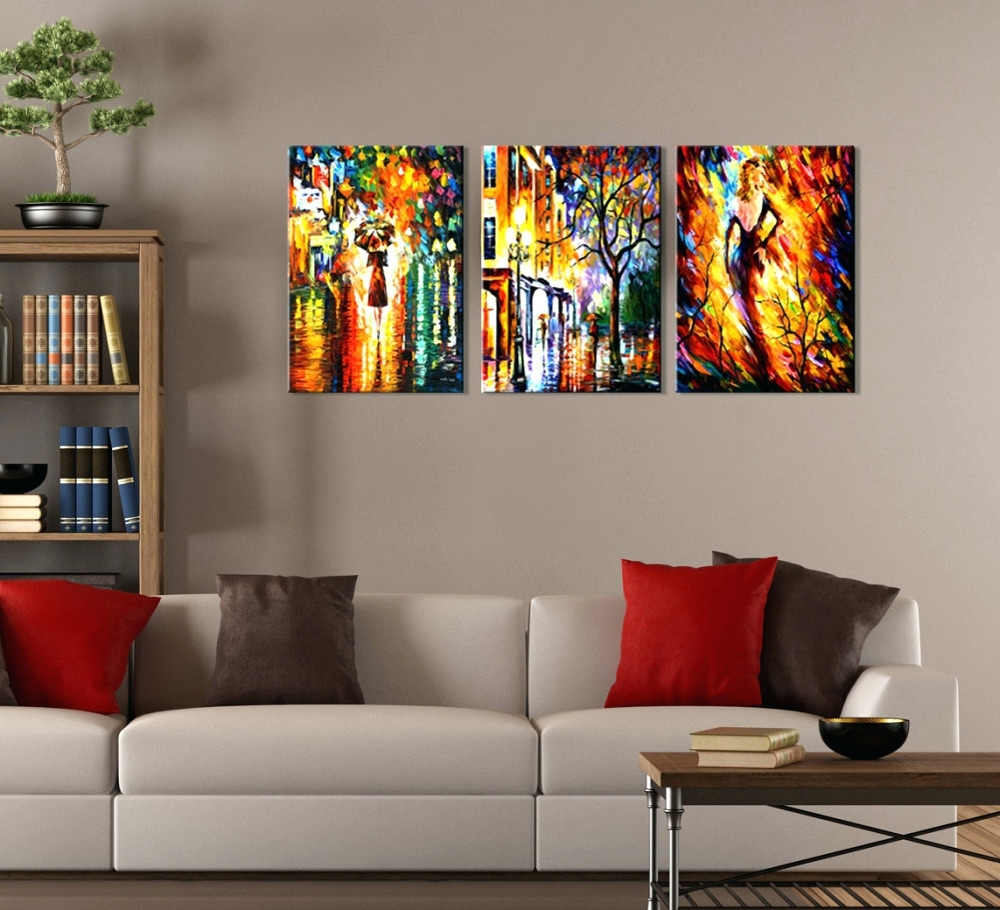 Small Canvas Wall Art In Most Up To Date Wall Arts ~ 3 Pc Canvas Wall Art Set Perfect Ideas 3 Piece Modern (View 7 of 15)