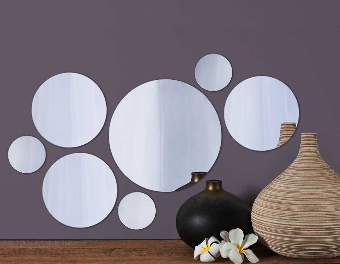 Small Round Mirrors Wall Art Within Famous Small Round Mirrors Wall Art Set Of (View 5 of 15)