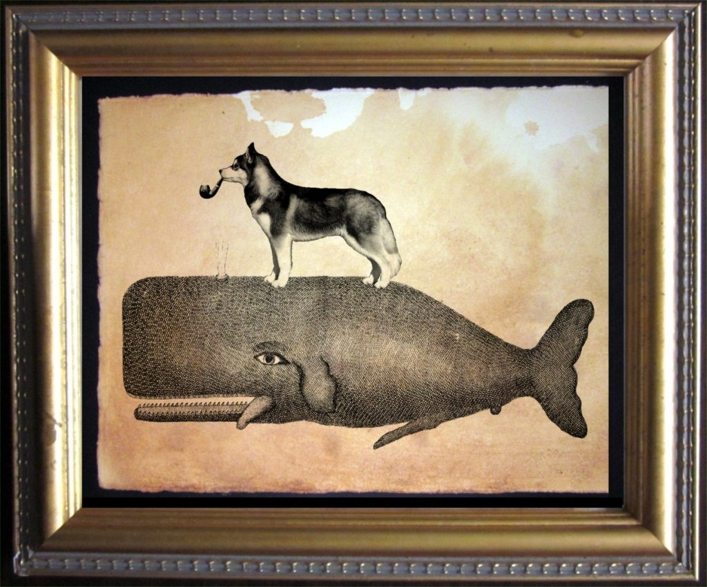 Smart Idea Antique Wall Art Also Ideas Design Whale Wolf On Top Within Trendy Large Retro Wall Art (View 5 of 15)