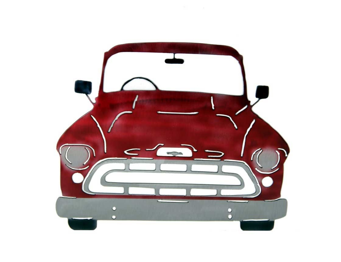 Smw267 Metal 1957 Chevy Truck Wall Art – Sunriver Metal Works Intended For Newest Classic Car Wall Art (View 7 of 15)