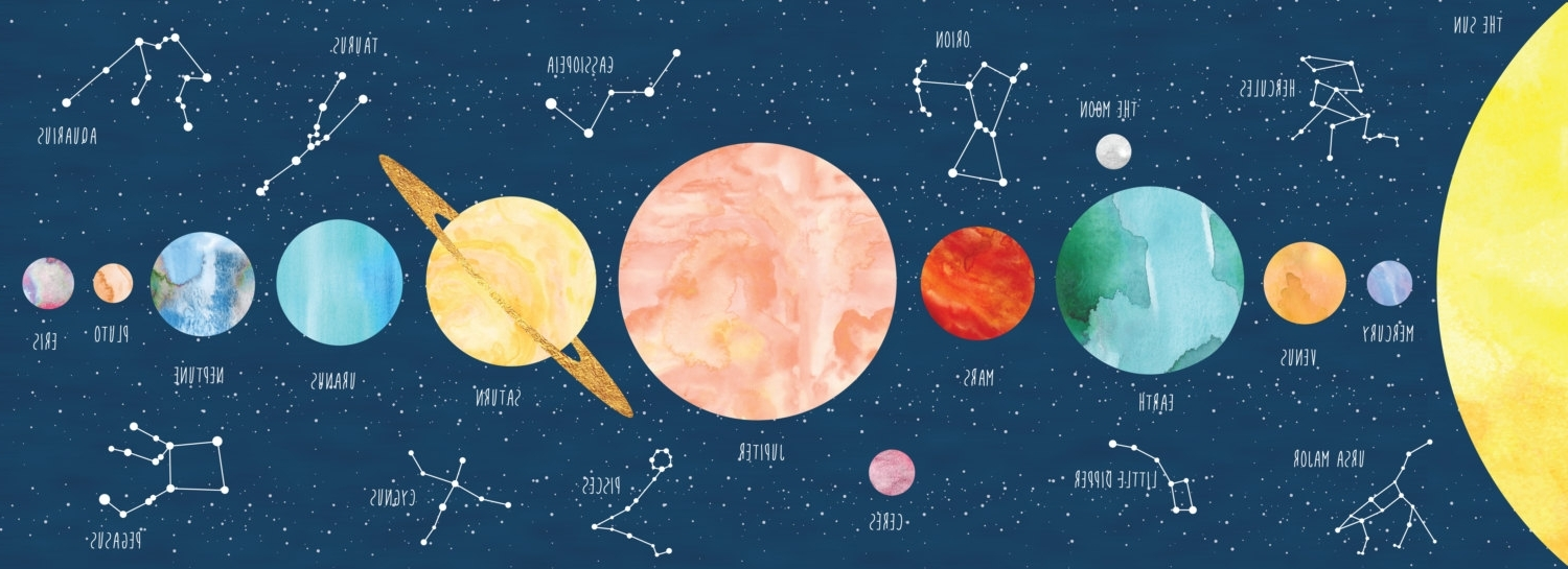 Solar System Wall Art Inside Famous Constellation Print, Solar System Print, Constellation Art (View 11 of 15)