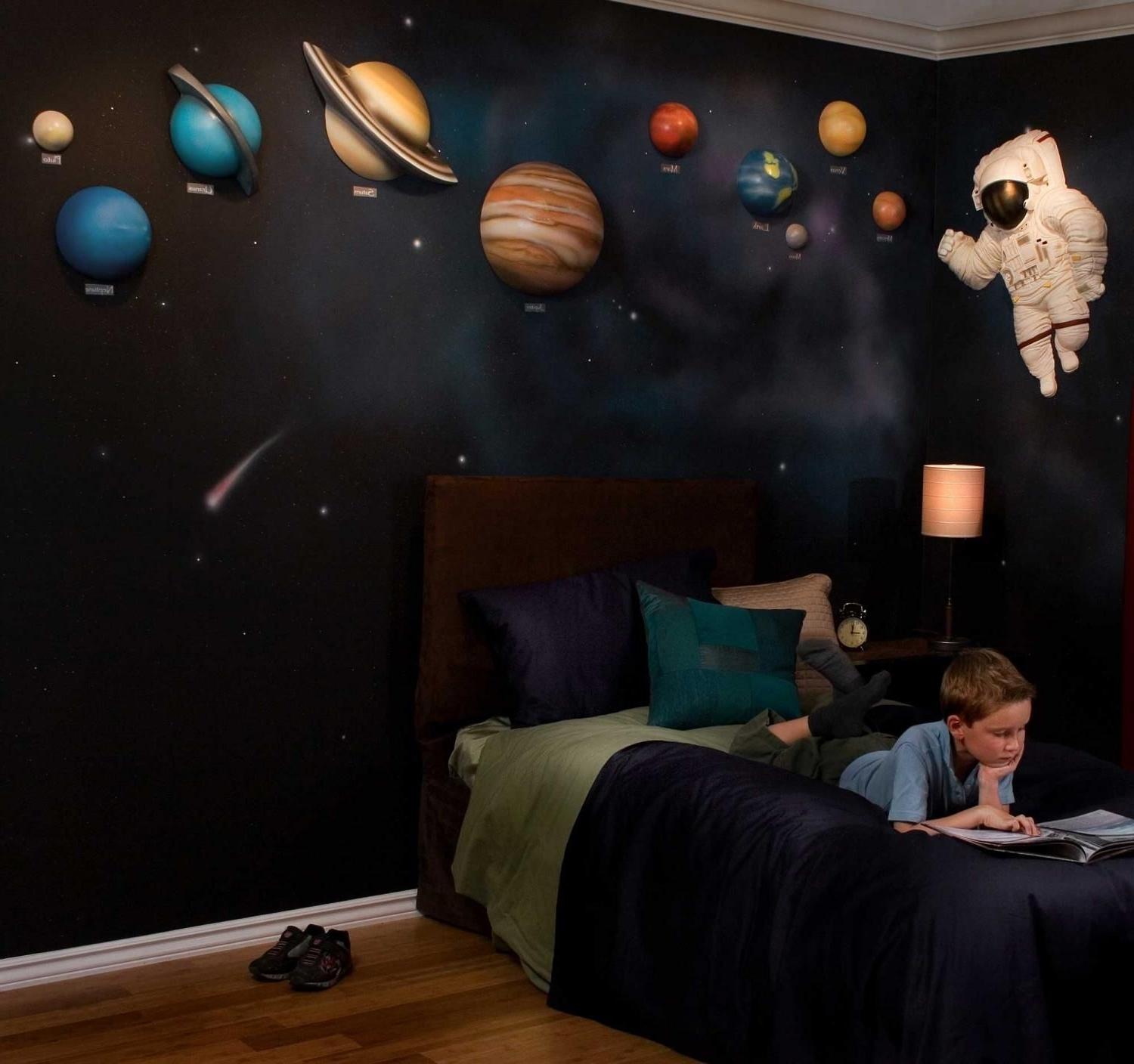 Solar System With Space Astronaut 3D Wall Art Decorbeetling Within Well Known Astronaut 3D Wall Art (View 10 of 15)