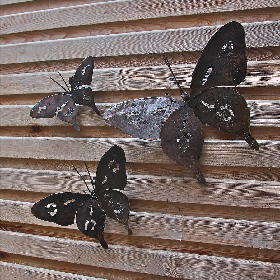 Sorrentos Bistro Home Throughout White Metal Butterfly Wall Art (View 6 of 15)