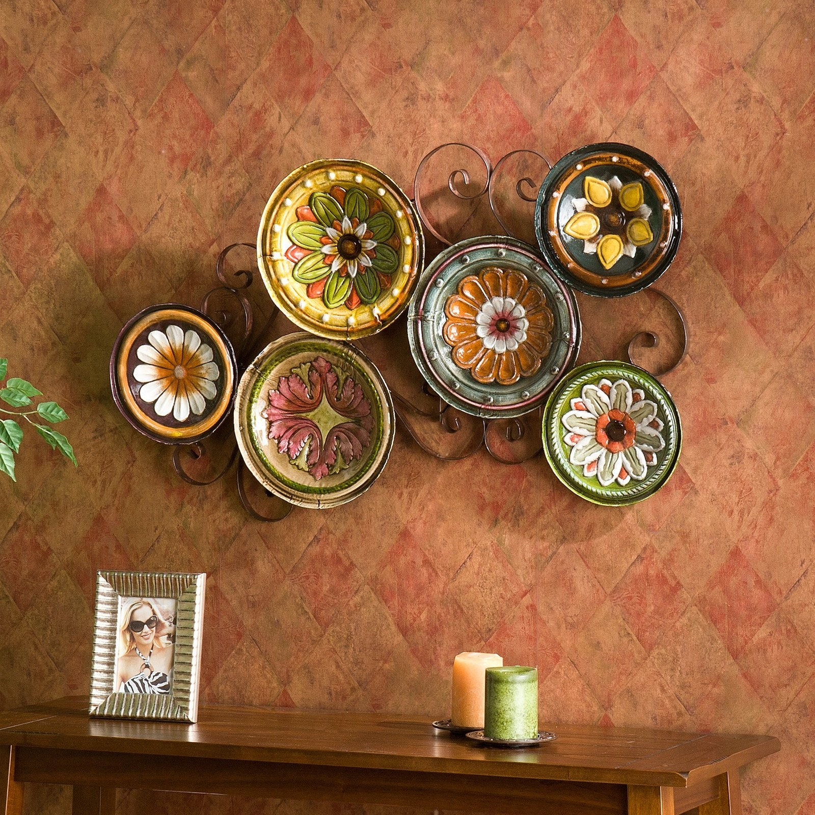 Southern Enterprises Scattered Italian Plates Metal Wall Art With Fashionable Italian Style Wall Art (View 15 of 15)