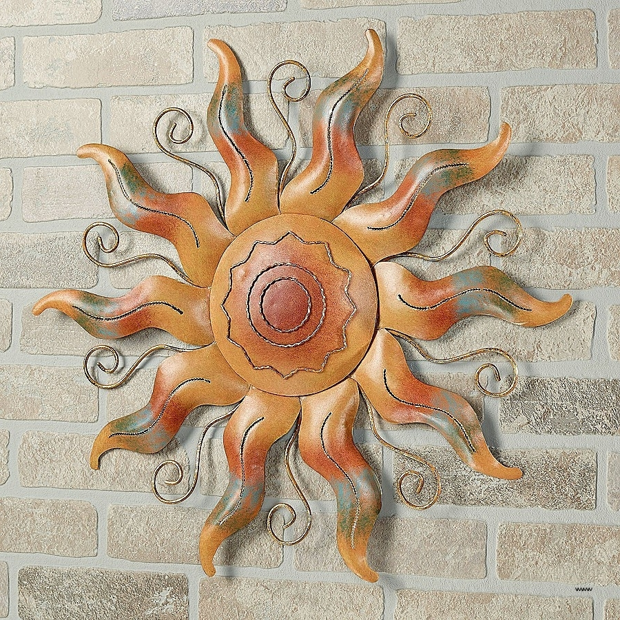 Southwestern Metal Wall Art Elegant Fiesta Sun Indoor Outdoor Inside Popular Southwestern Metal Wall Art (View 10 of 15)