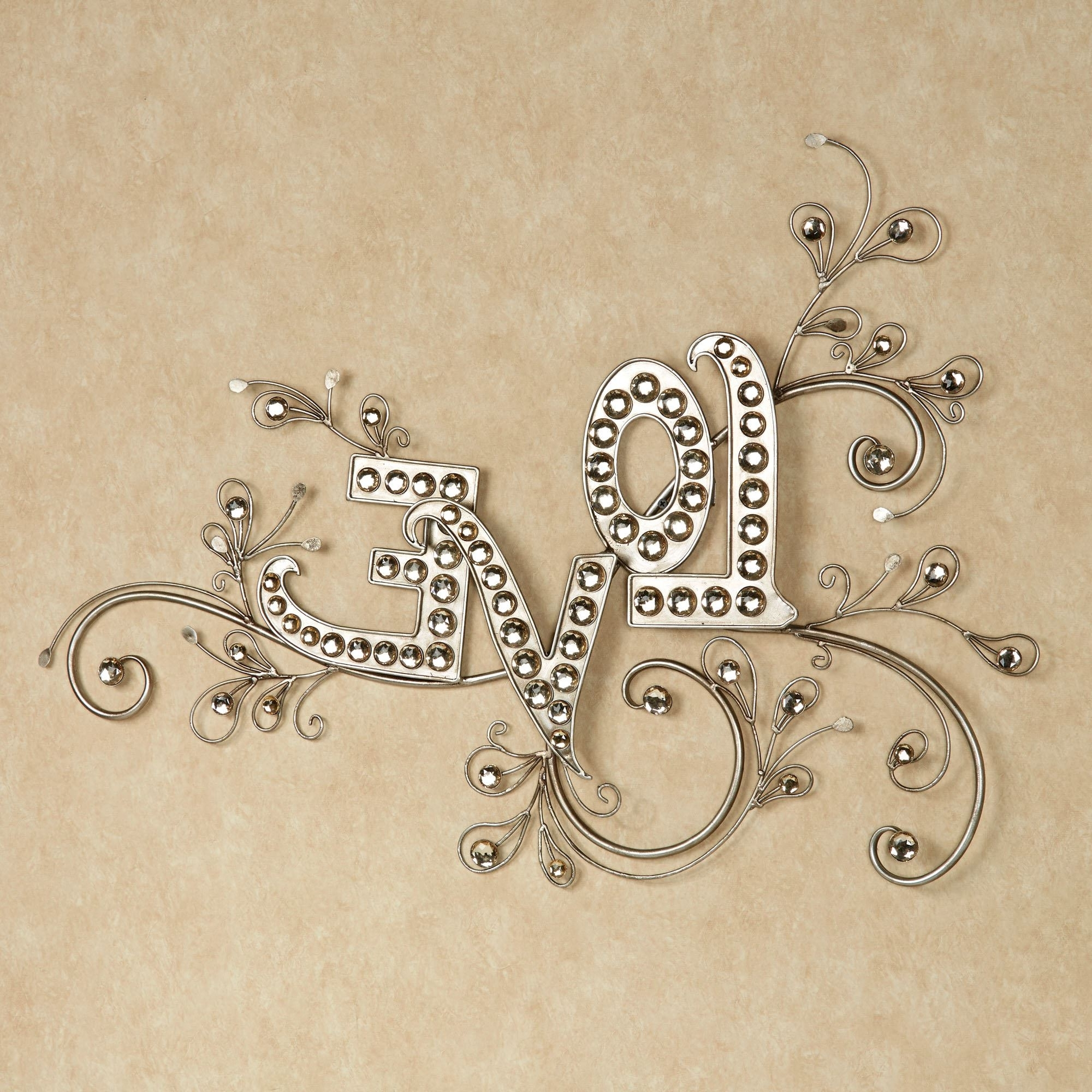 Sparkling Love Gem Word Wall Art Pertaining To 2018 Live Love Laugh Metal Wall Decor (View 14 of 15)