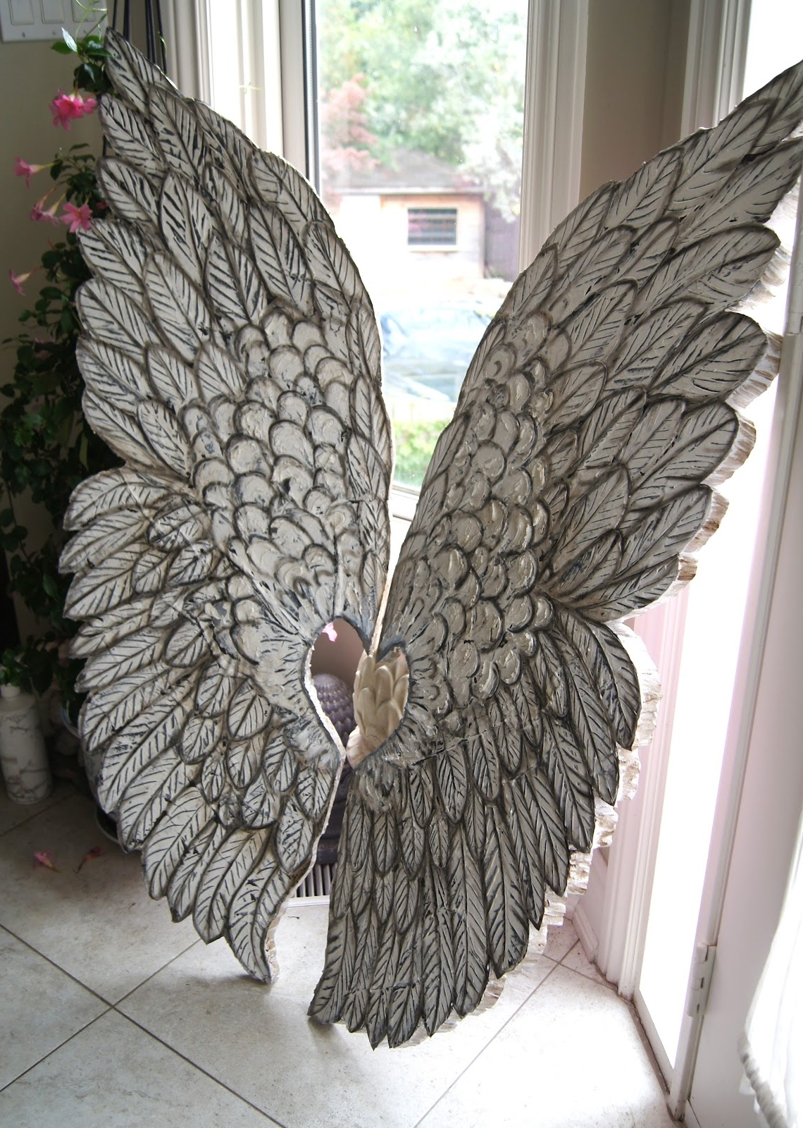 Featured Photo of Angel Wings Sculpture Plaque Wall Art