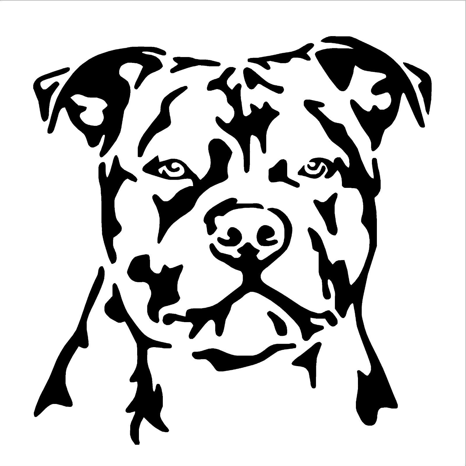 Staffordshire Bull Terrier Dog Vinyl Wall Art Sticker Decal Staffy Throughout Popular Pitbull Wall Art (View 9 of 15)