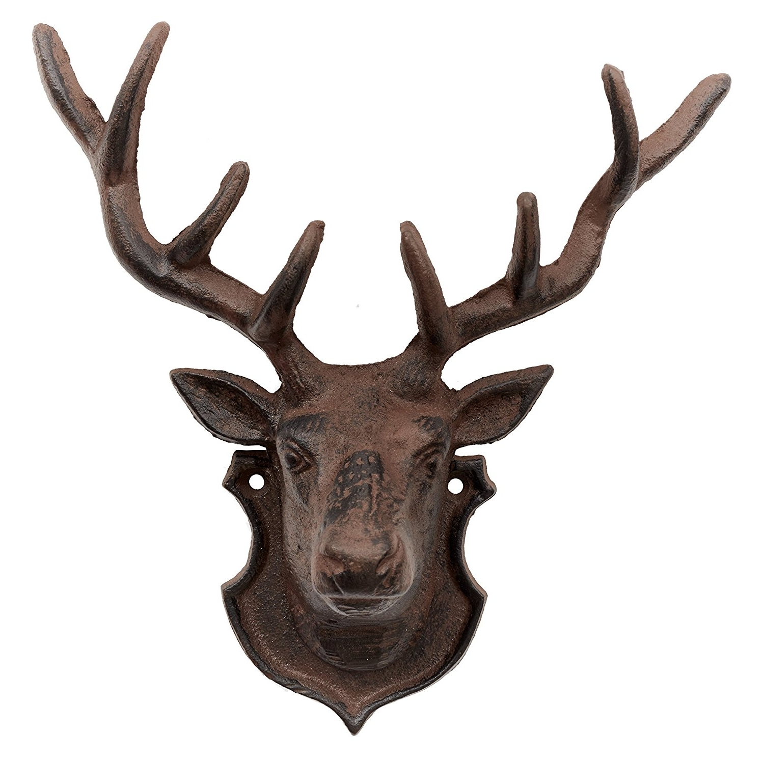Stags Head Wall Art With Regard To Recent Stags Head Wall Decoration, Cast Iron Garden Ornament: Amazon (View 13 of 15)