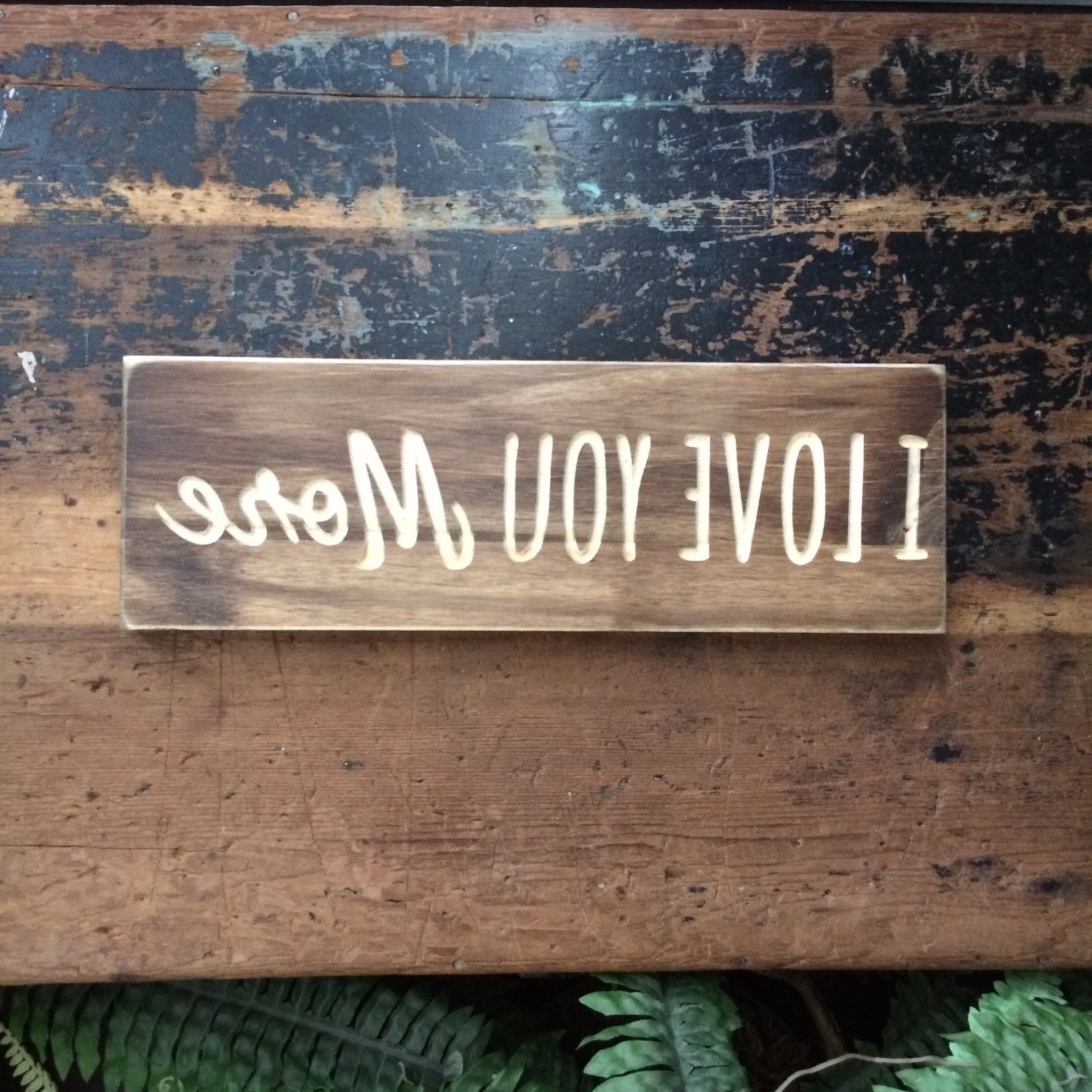 Stained Wood Wall Art For Well Known I Love You More, Love, Sweet, Carved Wood Sign, Wooden Sign, Wood (View 14 of 15)
