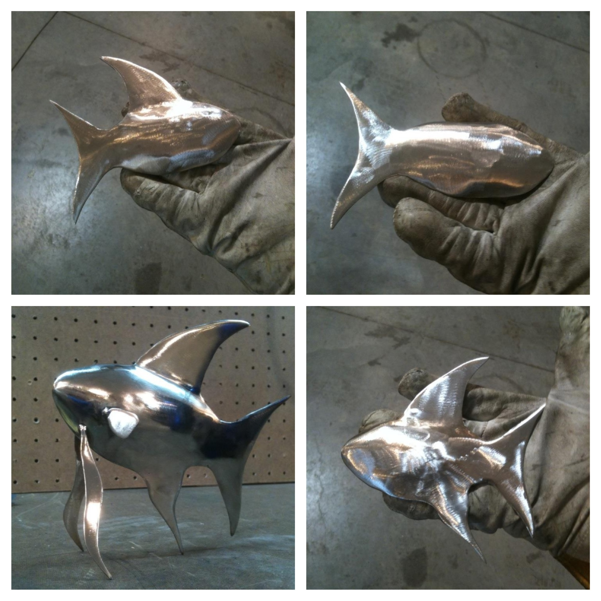 Stainless Steel Fish Wall Art Pertaining To Preferred Stainless Steel Tig Welded Fish I Made A Few Years Ago (View 12 of 15)