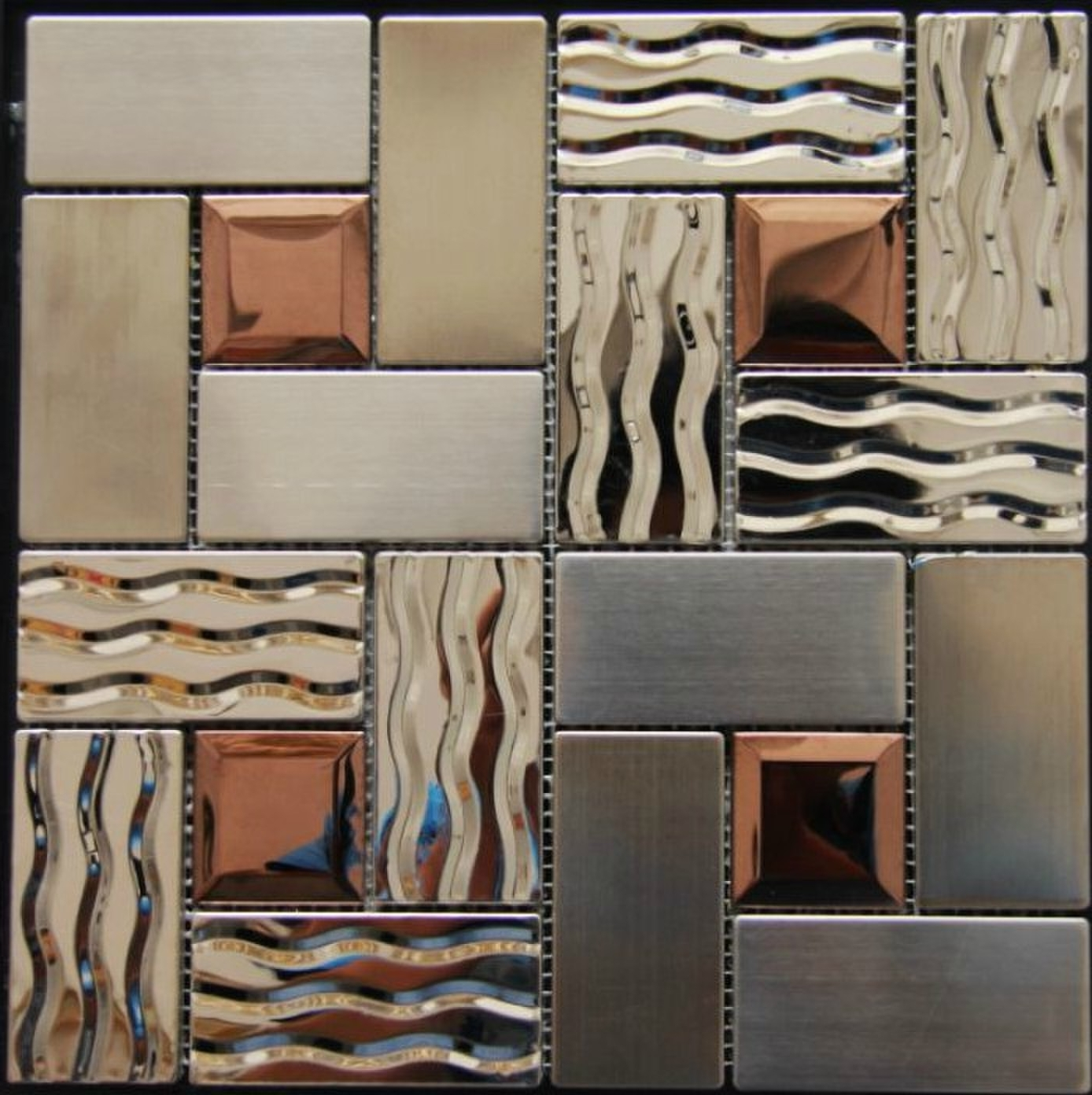 Stainless Steel Tile Backsplash Ssmt269 Kitchen Mosaic Glass Wall Inside Widely Used 3D Glass Wall Art (View 12 of 15)