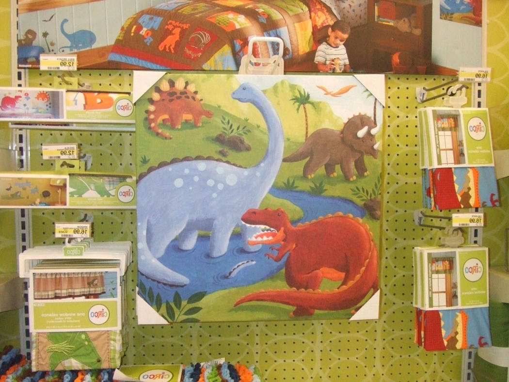 Showing Photos of Dinosaur Canvas Wall Art (View 8 of 15 Photos)