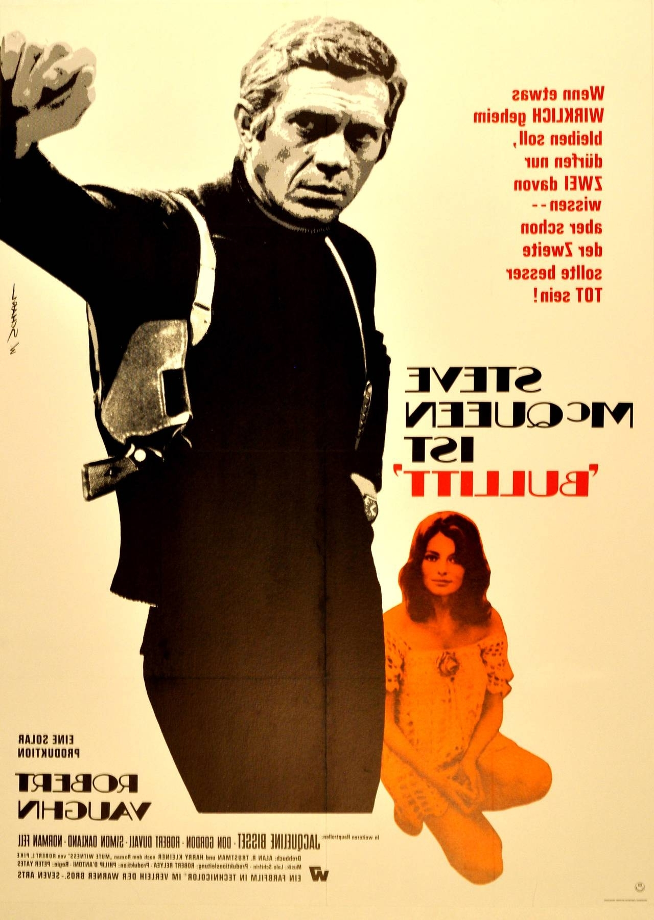 Steve Mcqueen Wall Art In Current Bullitt: Original Film Poster For The Award Winning Movie Starring (View 7 of 15)