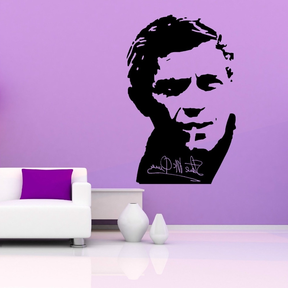 Steve Mcqueen Wall Art Throughout Most Recent Removable Wall Decal Steve Mcqueen Vinyl Wall Art Sticker Famous (View 11 of 15)