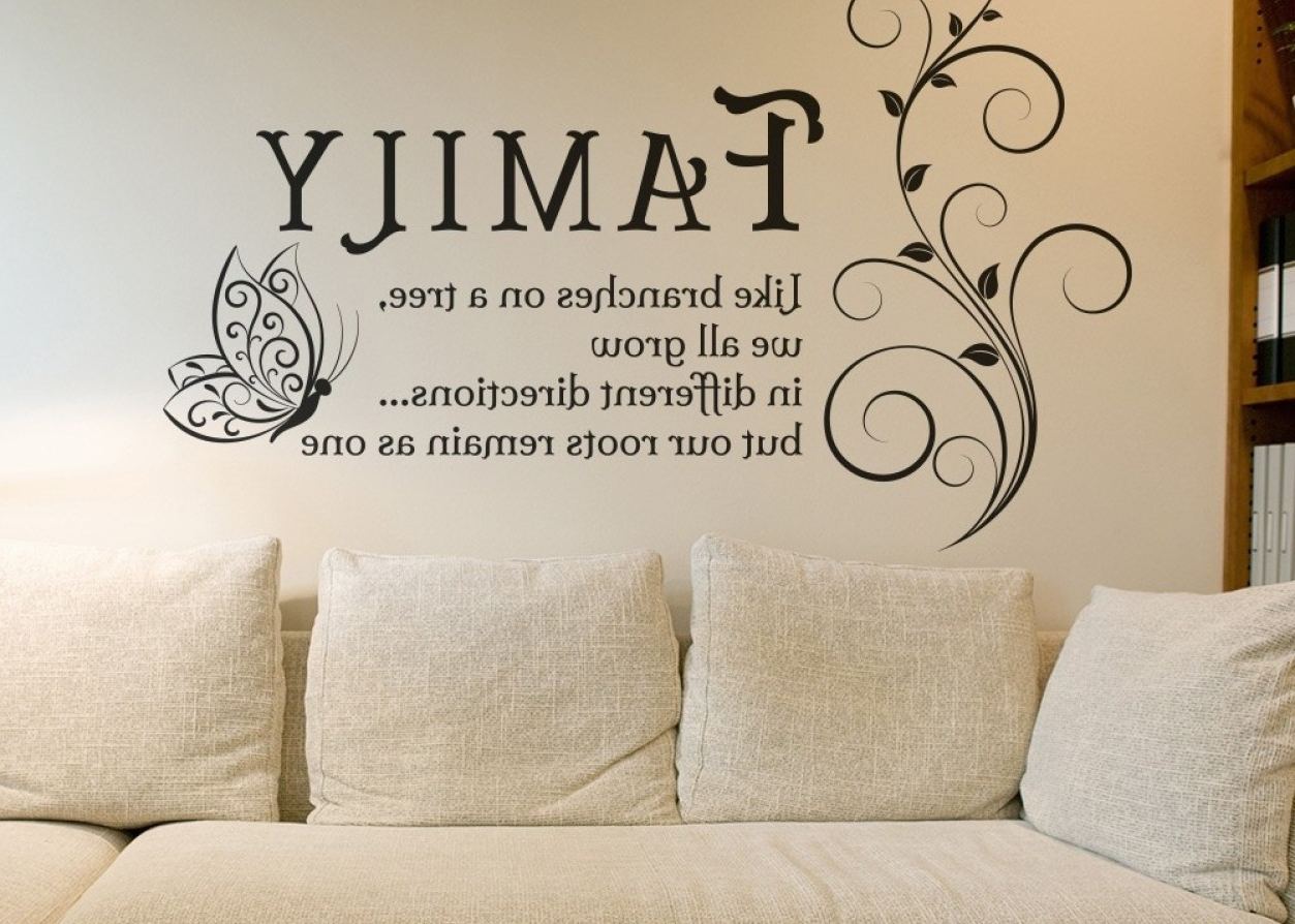 Sticker : Charming Living Room Aliexpress Home Decor Diy Black Inside Best And Newest Family Sayings Wall Art (Gallery 3 of 15)
