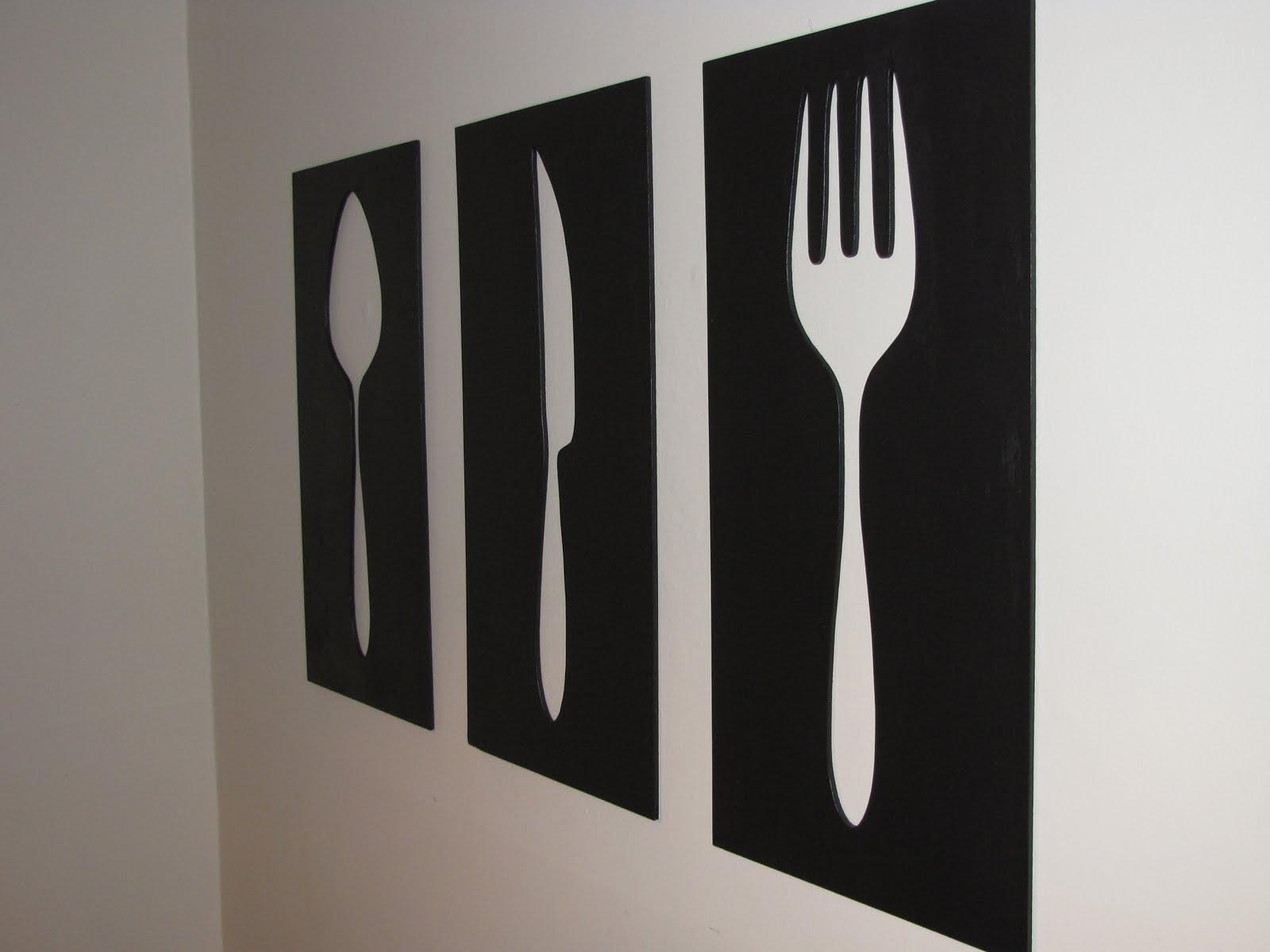 Stickers : Dining Fork And Spoon Wall Decor : Good Fork And Spoon In Fashionable Wooden Fork And Spoon Wall Art (View 15 of 15)