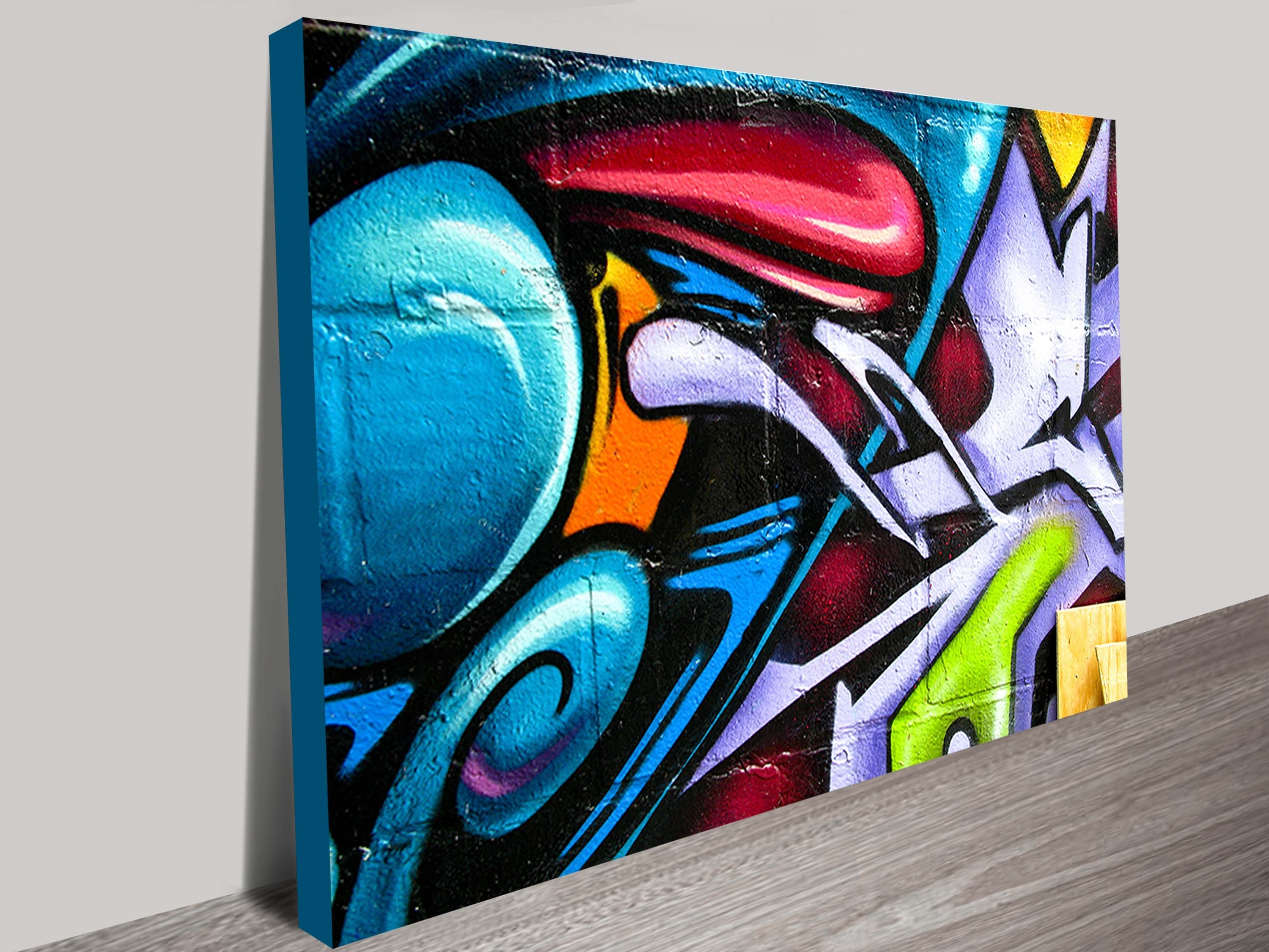 Street Art Abstract Canvas Print In 2018 Brisbane Abstract Wall Art (View 6 of 15)