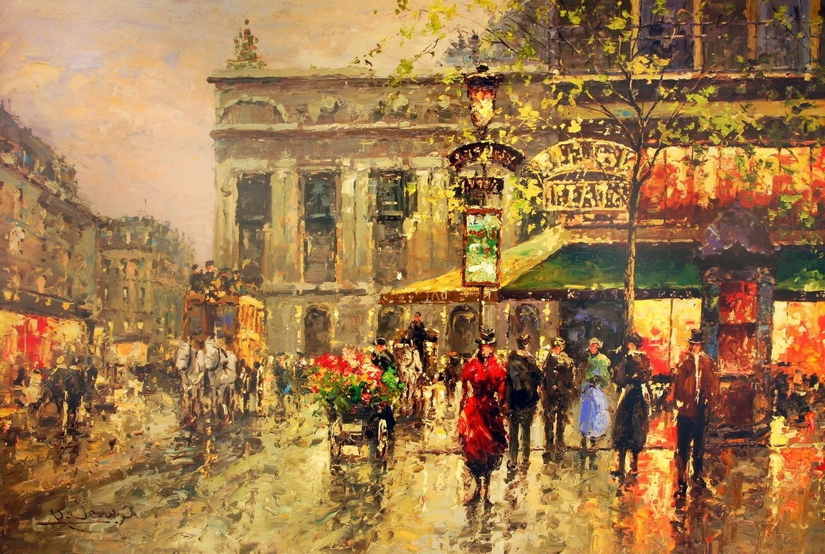 Street Scene Wall Art Regarding Best And Newest Vintage Parisian Street Scene Art Print (View 12 of 15)