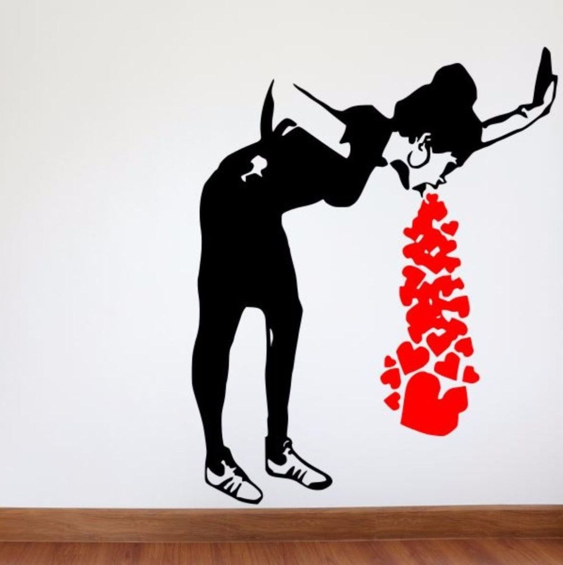 Street Wall Art Decals Inside Famous Street Art Wall Decal, Sick Of Love Removable Wall Decal (View 10 of 15)