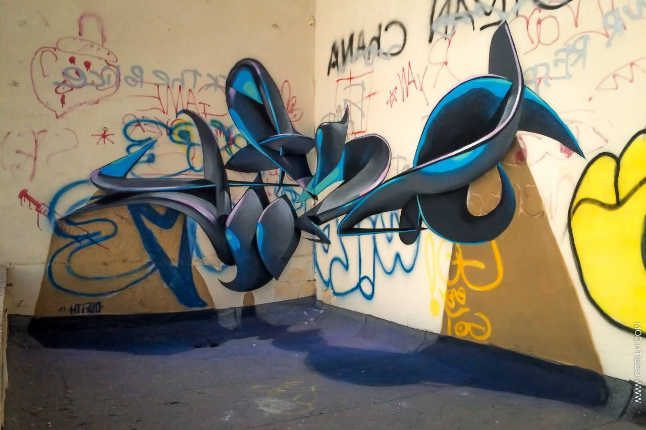 Street Wall Art Illusions Latters Anamorphic Graffiti Letters And Inside 2018 3D Wall Art Illusions (View 12 of 15)