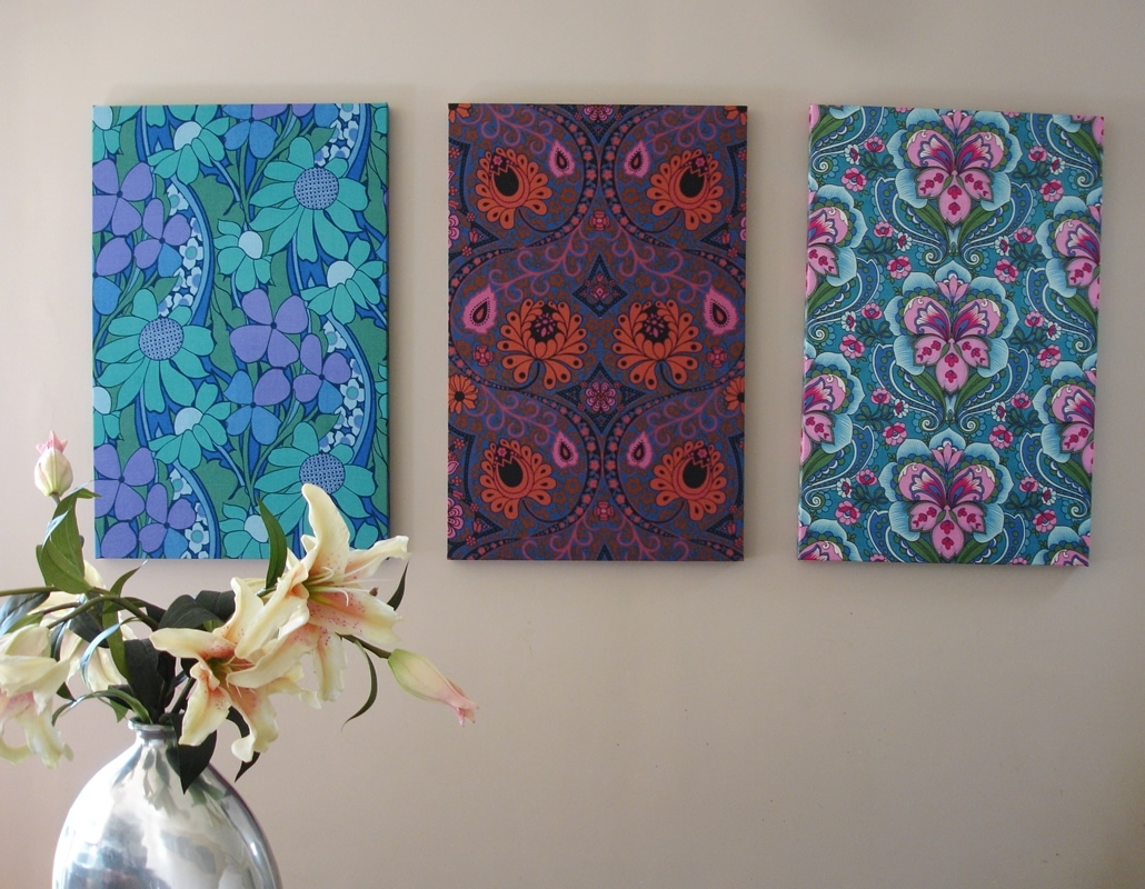 Stretched Fabric Wall Art With Best And Newest Wall Art « Fabulous Vintage Blog (View 6 of 15)