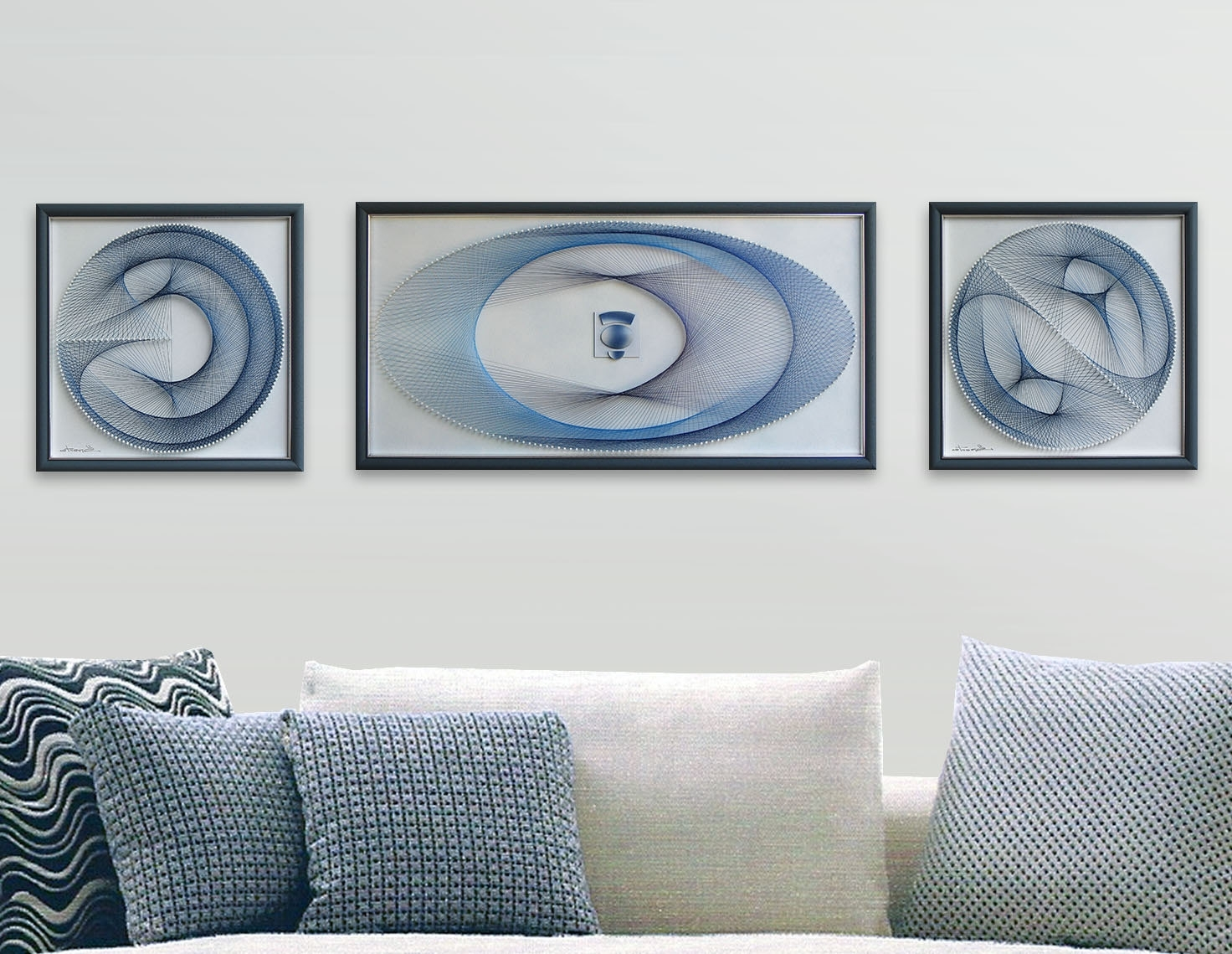 String Art Set – 3D Framed Art Abstract Wall Art – Beautiful Zen Throughout Widely Used Pastel Abstract Wall Art (Gallery 3 of 15)