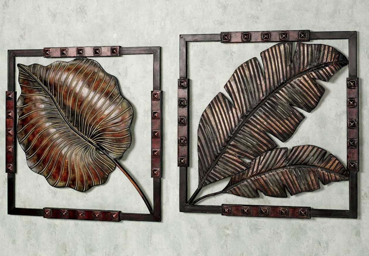 Stunning Metal Art Wall Decor With Tropical Leaf Ideas (View 6 of 15)