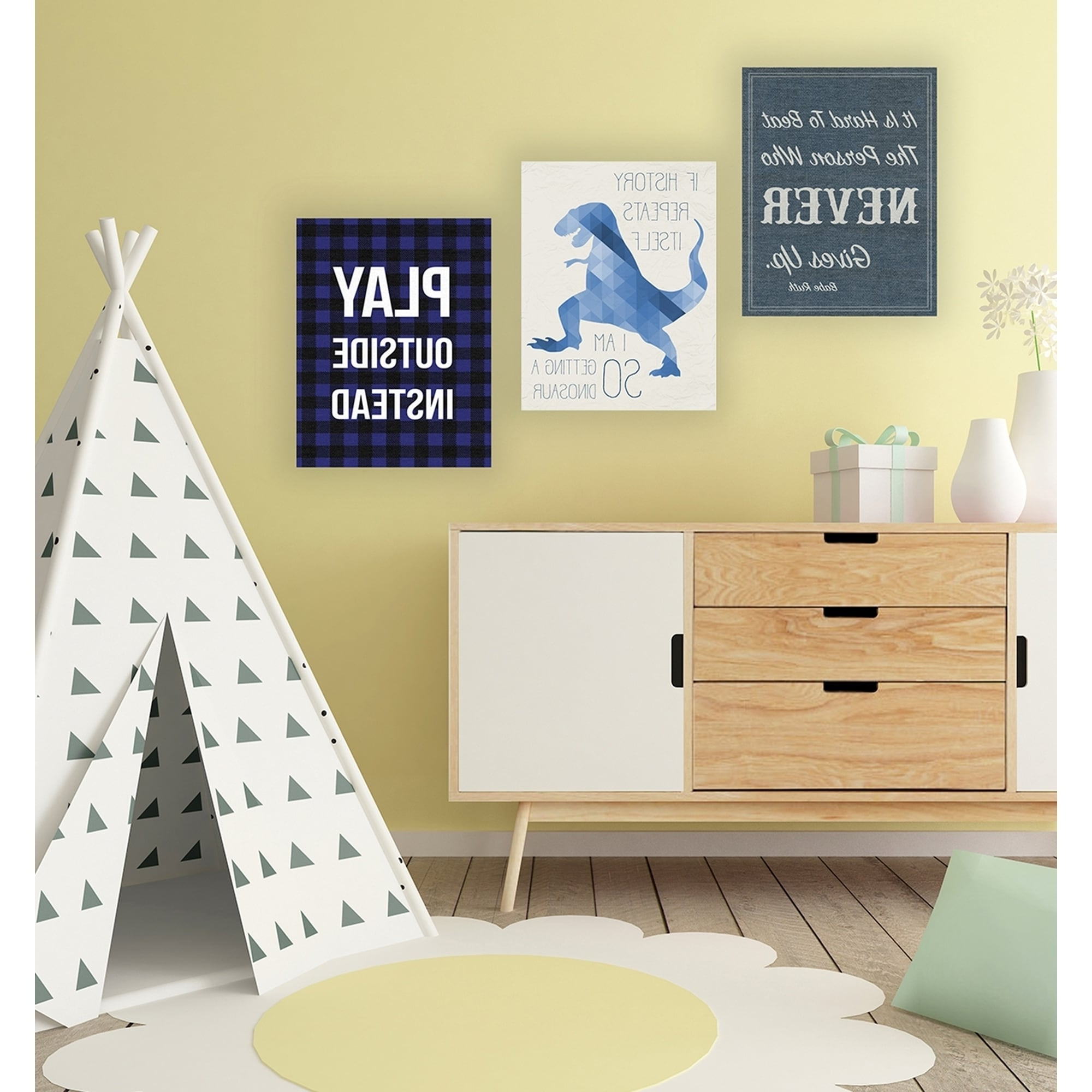 Cute Dinosaur Canvas Wall Art Gallery - The Wall Art Decorations ...