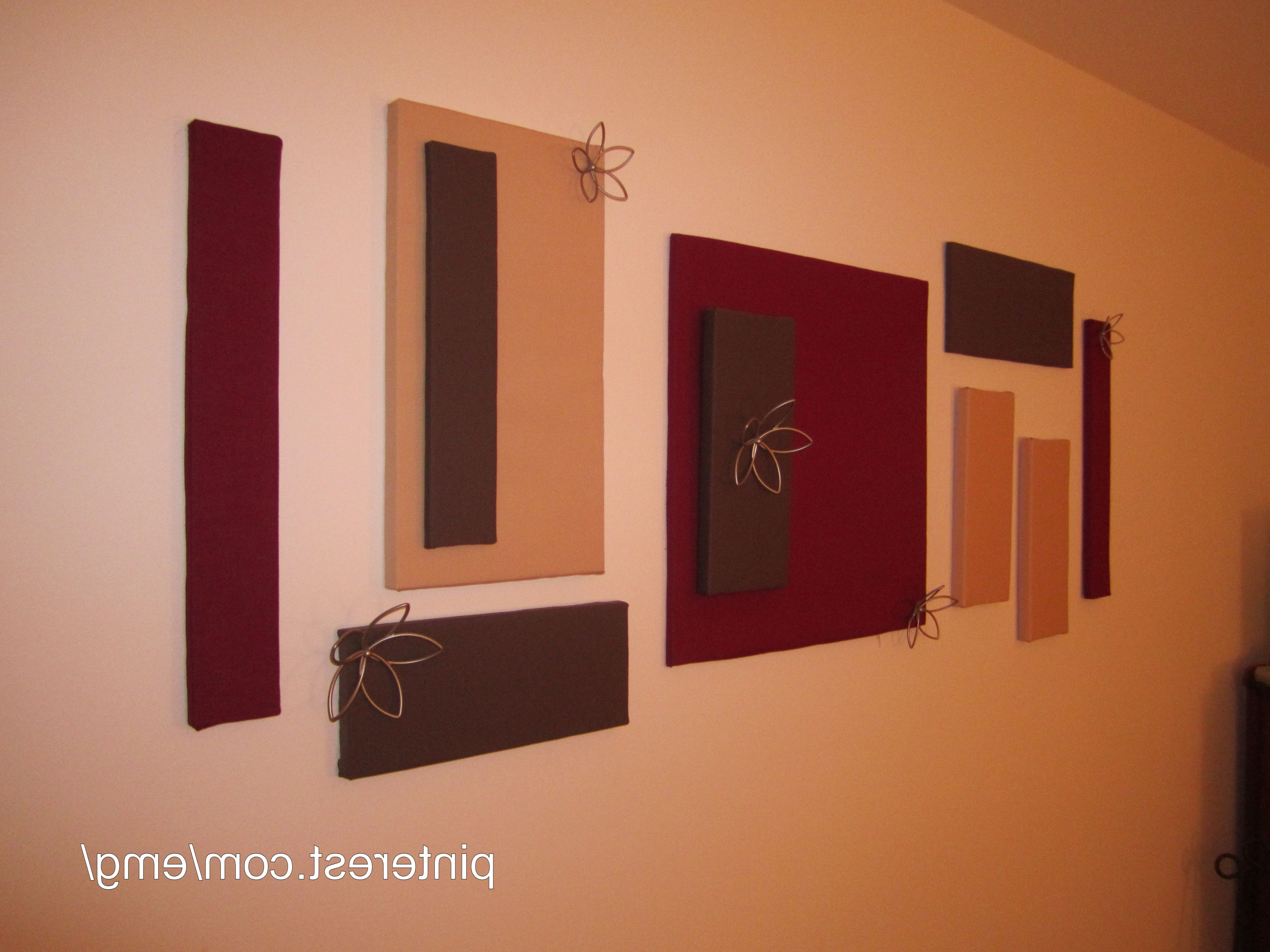 Styrofoam Wall Art Inside Fashionable Diy Wall Decor — Keep Styrofoam From Packaging, Then Cover With (Gallery 15 of 15)