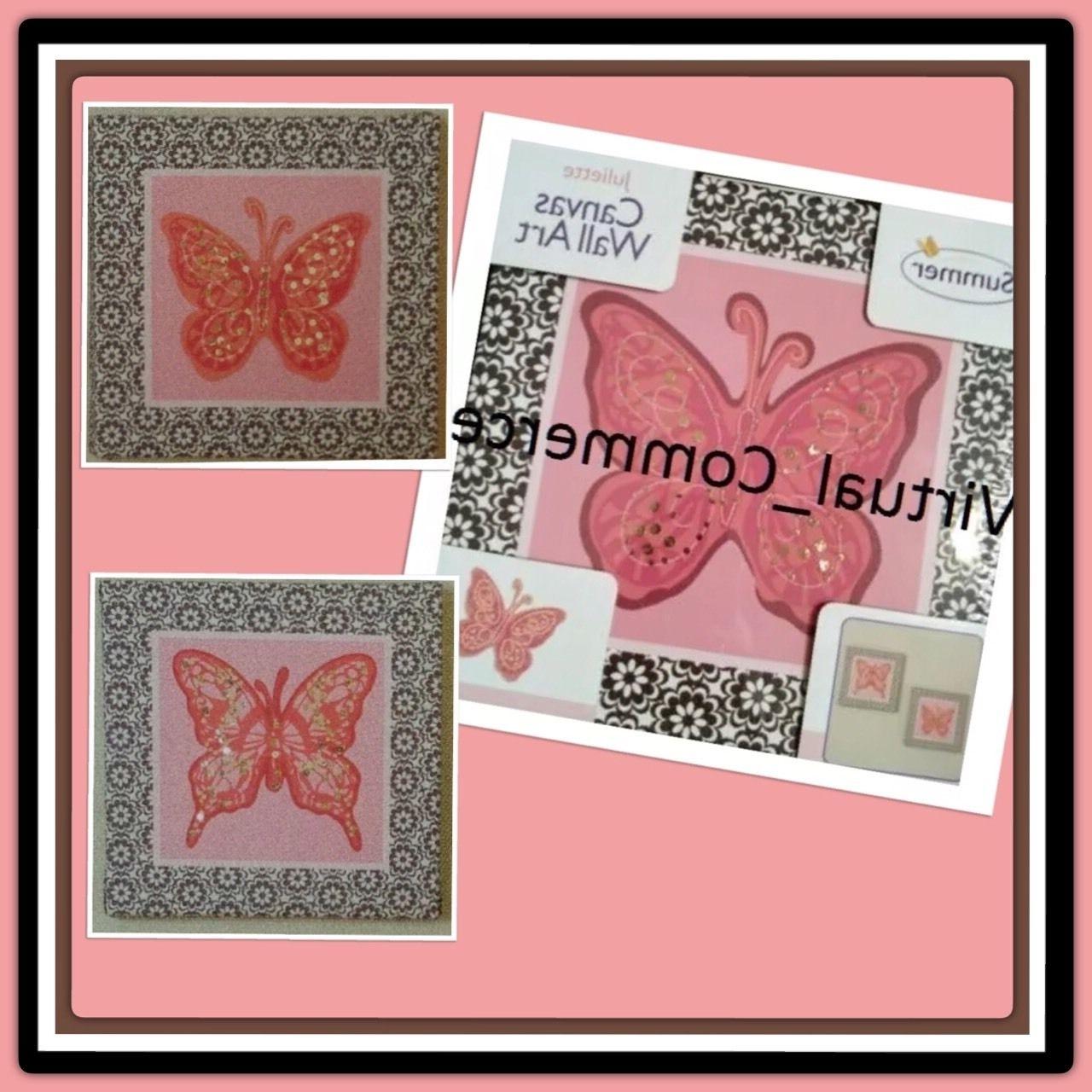 Summer Infant Juliette Butterfly Canvas Wall Art (View 13 of 15)
