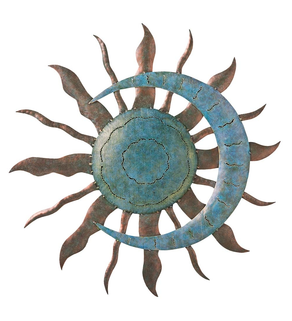 Sun And Moon Metal Wall Art Intended For Most Recent Recycled Metal Moon And Sun Wall Art (Gallery 1 of 15)