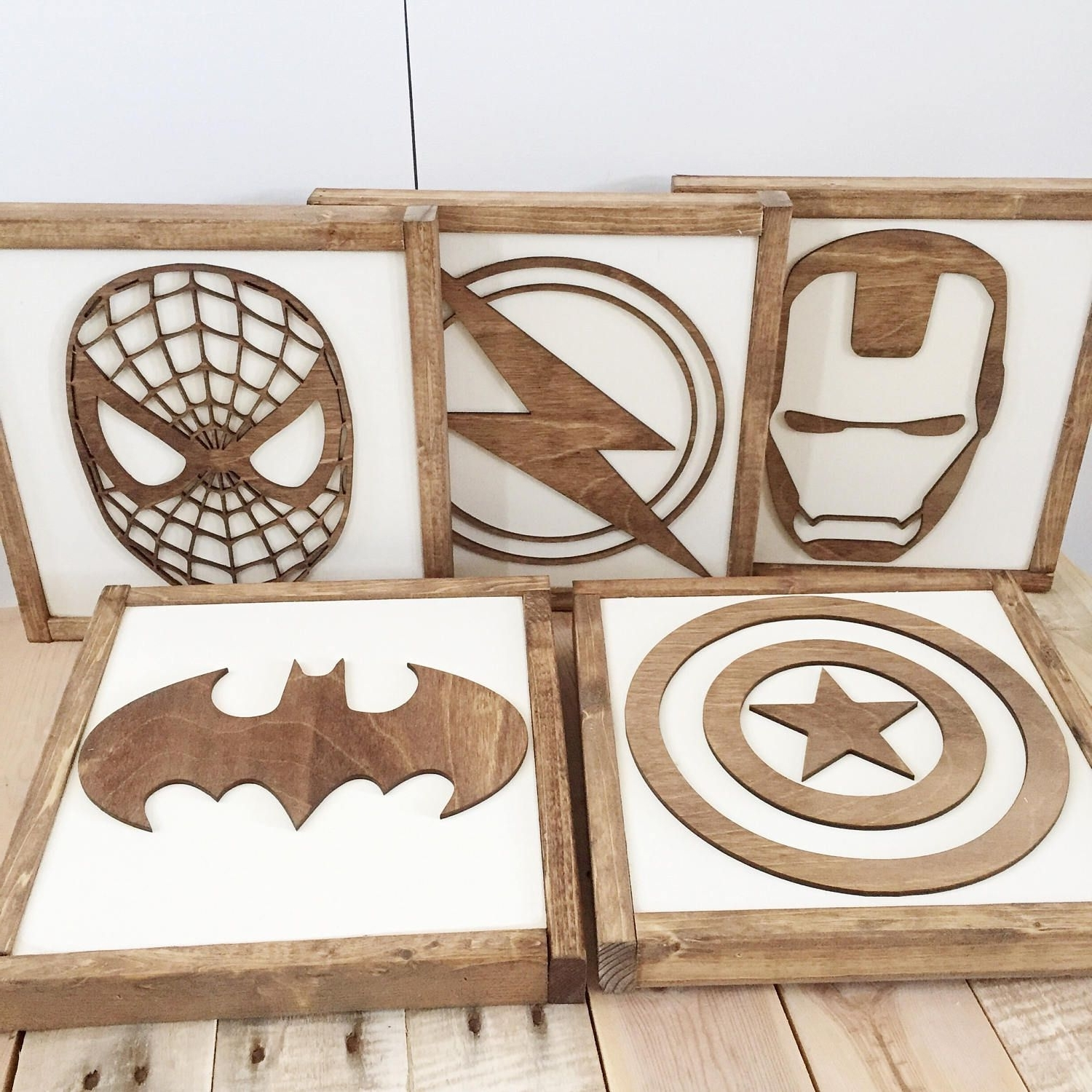 Superhero Wall Art For Kids For Fashionable Superhero Sign Superhero Wall Art Boys Bedroom Decor Neutral (View 15 of 15)