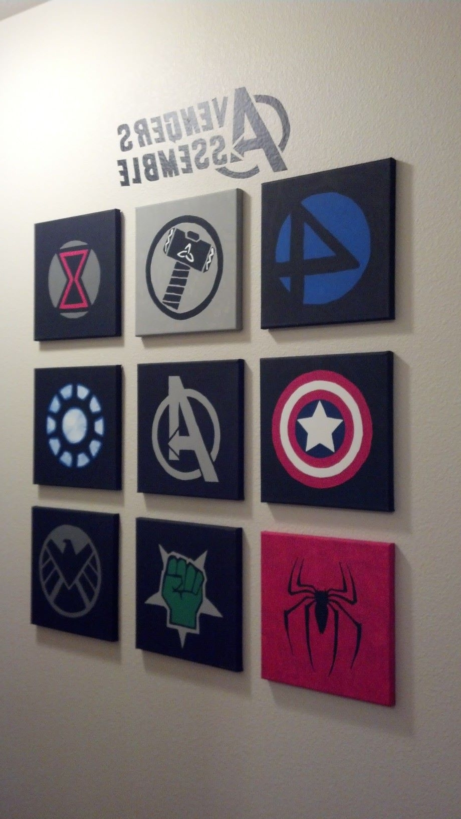 Superhero Wall Art For Kids Throughout Current Marvel Avengers Wall Art Made Out Of 10X10 Canvases And Acrylic (View 12 of 15)