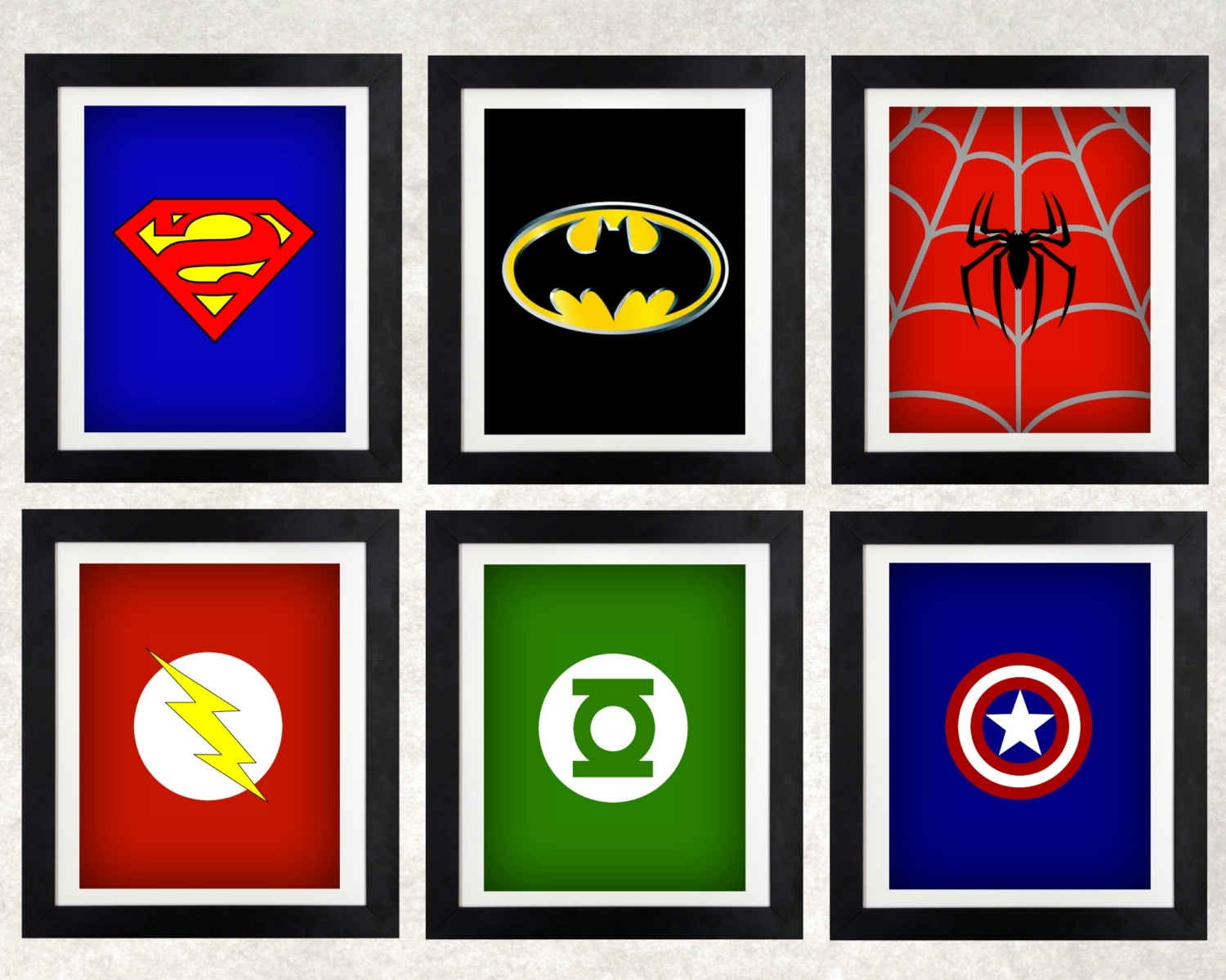 Superhero Wall Art For Kids Throughout Most Popular Superhero Art Prints // Superhero Decor // Boysnothingpanda (View 13 of 15)